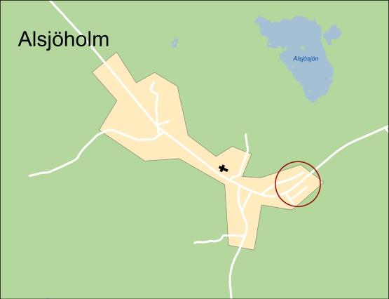 Översiktskarta för lediga tomter i Alsjöholm