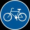 Påbjuden cykelbana