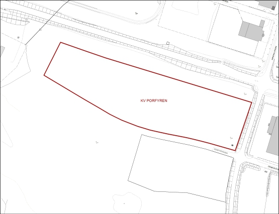Tillgänglig mark för verksamheter inom kvarteret Porfyren, Smedstorp