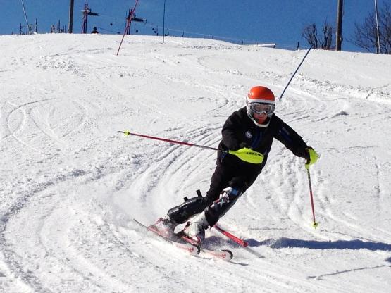 Slalom i Svartbäcksmålabacken