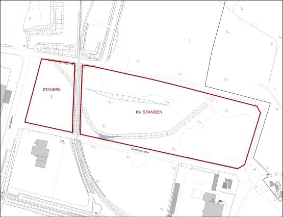 Tillgänglig mark för verksamheter i kvarteret Stansen.