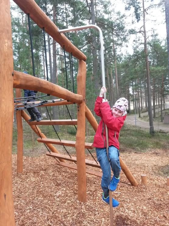 Stång vid klätterställning Svartbäcksmåla