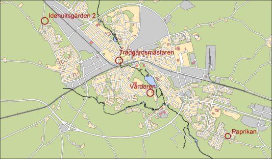 Översikt över mark för flerbostadshus i Nybro stad